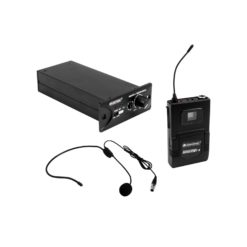 OMNITRONIC Set MOM-10BT4 Receiver module + Bodypack transmitter + Headset microphone