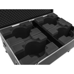 ROADINGER Flightcase 4x LED TMH-X19 Moving head