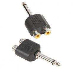Adam Hall Connectors 7548 - Connettore a Y 2 x mono RCA femmina a Jack mono maschio da 6,3 mm
