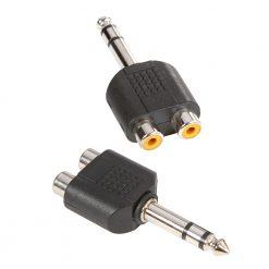 Adam Hall Connectors 7549 - Connettore a Y 2 x mono RCA femmina a Jack stereo maschio da 6,3 mm
