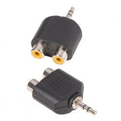 Adam Hall Connectors 7550 - Adattatore a Y 2 x mono RCA femmina a Jack stereo maschio da 3,5 mm