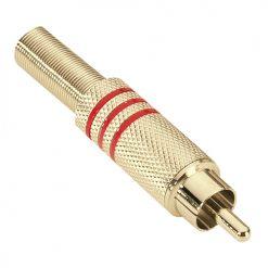 Adam Hall Connectors 7623 RED - Connettore RCA dorato rosso