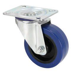 Adam Hall Hardware 372151 - Ruota Orientabile 100 mm con Ruota blu