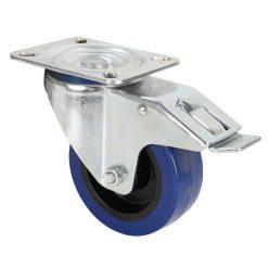 Adam Hall Hardware 372191 - Ruota Orientabile 100 mm con Ruota blu e Fermo