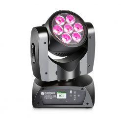 Cameo AURO® BEAM 150 - Testa Mobile a Rotazione Infinita, con 7 LED da 15 W RGBW