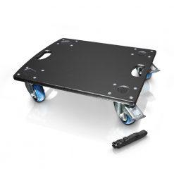 LD Systems DAVE 10 G3 CB - Pannello con Ruote per LDDAVE10G3 con Cinghia di Fissaggio
