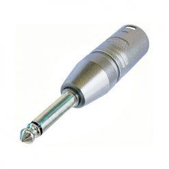 Neutrik NA2-MP - Adattatore jack da 6,3 mm a 2 poli su connettore XLR a 3 poli, mono