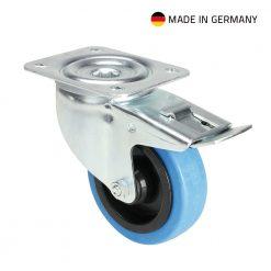Tente 37034 - Ruota Orientabile 100 mm con Ruota blu e Fermo