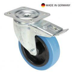 Tente 37036 - Ruota Orientabile 125 mm con Ruota blu e Fermo