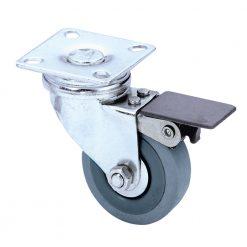 Guitel 3703 - Ruota Orientabile 50 mm con Ruota grigia e Fermo