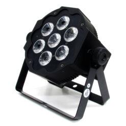 BSL FLATPAR-7 PAR LED CON 7 LED RGBWA+UV DA 12Wia 1 anno