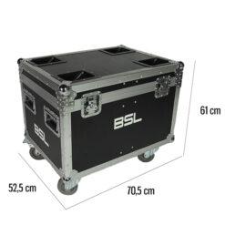 BSL MR-IMPACT-6LED FLIGHT CASE PER IL TRASPORTO DI 2 EFFETTI LUCE IMPACT-6LED
