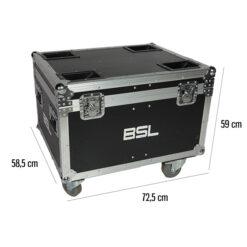 BSL MR-MAGICZOOM-7 FLIGHT CASE PER IL TRASPORTO DI 4 TESTEMOBILI MAGICZOOM-7