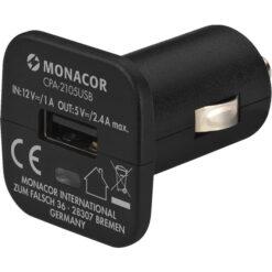 MONACOR CPA-2105USB TRASFORMATORE DI TENSIONE DC/DC USB PERAUTO