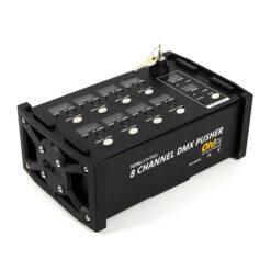 """OH-FX TC-105 CONTROLLER FX 8 CANALI DMX. 3 FUNZIONI PER CANALE """" PUSCHER/SWICHT E F"""
