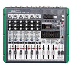 ZZIPP ZZMX8R MIXER 8 CANALI CON LETTORE MP3 E FUNZIONE DI REGISTRAZIONE