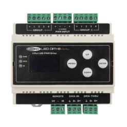 LED Dim-8 Install Guida Din