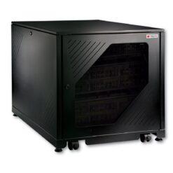 Armadio Rack 19'' 600x1000 12 Unità Nero da sotto-scrivania da assemblare