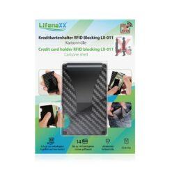 Blocco RFID Porta Carte di Credito in Carbonio, 4847