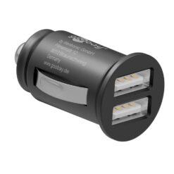 Caricatore Compatto da Auto 2 porte USB max.24W/4.8A Nero
