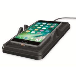 Caricatore Smartphone Qi Wireless da Auto 10W Silicone Nero