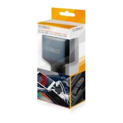 Caricatore da Auto con Porte QC3.0 e USB-C, 4823