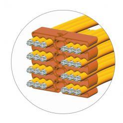 Clip Fermacavo 24 Cavi Arancione