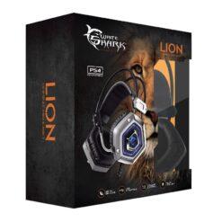 Cuffie Gaming USB con Microfono Lion Silver