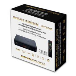 Decoder Ricevitore Digitale Terrestre DVB-T2 H265/HEVC 10bit PVR + RCU 2 in 1