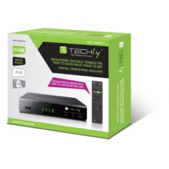 Decoder Ricevitore Digitale Terrestre DVB-T/T2 H.265 HEVC 10bit Metallo con Display