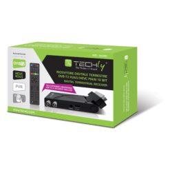 Decoder Ricevitore Digitale Terrestre DVB-T/T2 H.265 HEVC 10bit USB HDMI Scart 180°