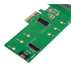 Doppio Adattatore PCIe M.2 per SSD SATA e PCIe SATA