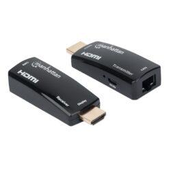 Extender HDMI Over Ethernet 1080p Compatto Nero