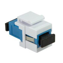 Giunto Fibra SC Simplex per Installazione Keystone Blu e Bianco