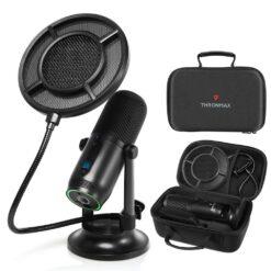 Kit Valigetta Microfono Professionale USB-C™ Condensatore 48KHz 16bit