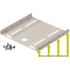 Kit di Montaggio per HDD / SSD da 2,5'' su alloggio da 3,5'' Beige