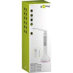 Lampada a LED da Tavolo Ricaricabile con Calendario e Orologio