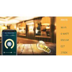Lampadina LED E27 con Filamento Smart Controllo Vocale Alexa A+, R9078