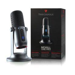Microfono Professionale a Condensatore 96KHz 24bit 4 Record USB-C™ Grigio