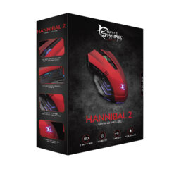 Mouse Gaming USB 3200dpi 6 Tasti Hannibal-2 GM-3006 Rosso