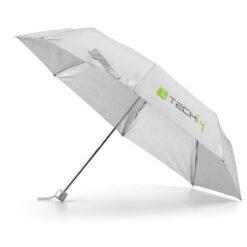 Ombrello pieghevole Grigio con logo Techly