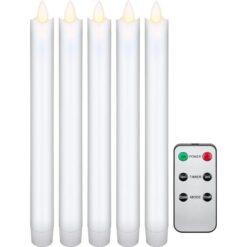 Set 5 Candele LED in Cera con Telecomando