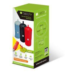 Speaker Portatile Bluetooth Tube Radio FM MicroSD USB 10W Rosso