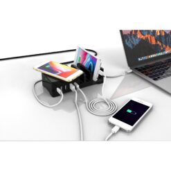 Stazione di Ricarica Power Delivery Pad di Ricarica Wireless Quick Charge 55W