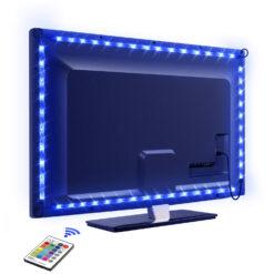 Striscia 30 LED RGB USB per Retro-illuminazione TV A++