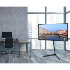 Supporto a Pavimento per TV/LCD/LED/Plasma 49-70'' Base a V Nero