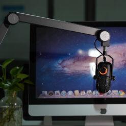 Supporto per Microfono Braccio USB Nero