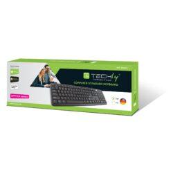 Tastiera 104 tasti USB layout Tedesco Nero