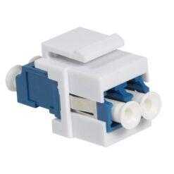 Giunto Fibra LC Duplex per Installazione Keystone Blu e Bianco