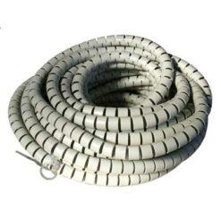 Guaina Raccoglicavi Diametro 20mm a Spirale 30m Grigio